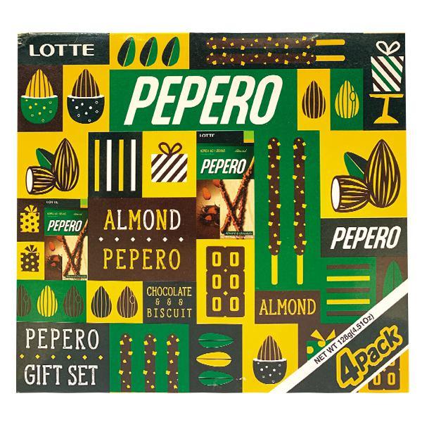 Bánh Que Lotte Pepero Hạnh Nhân 128G