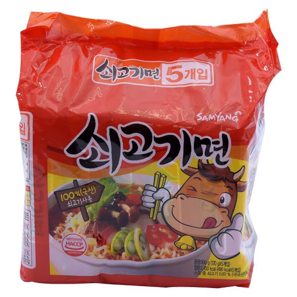 Lô 5 Mì Thịt Bò Samyang 120G