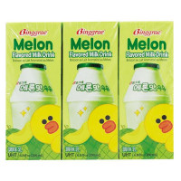 Lốc 6 Sữa Tiệt Trùng Binggrae Hương Dưa Lưới 200Ml