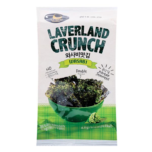 Rong Biển Laverland Crunch Vị Wasabi Gói 4.5G*9