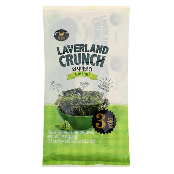 Rong Biển Laverland Crunch Vị Wasabi Gói 4.5G*3