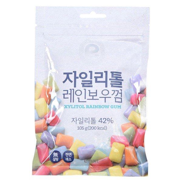 Kẹo Cao Su Xylitol Rainbow Refill 105G