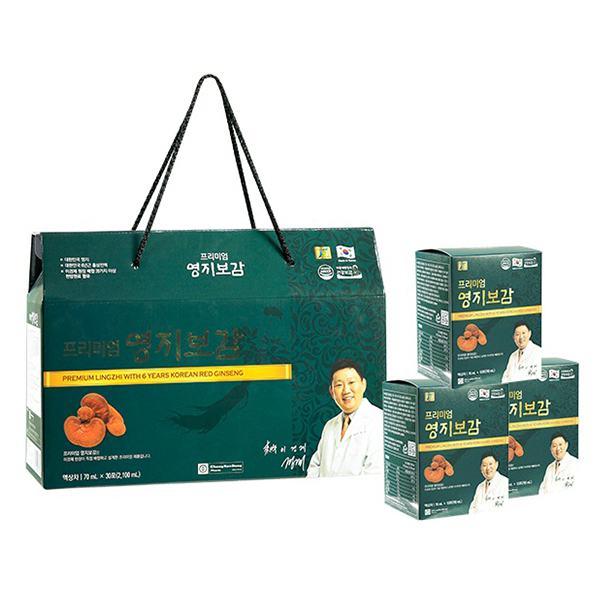 Hộp Quà Nấm Linh Chi Và Hồng Sâm Hàn Quốc 6 Tuổi Chong Kun Dang 30Gói*70Ml