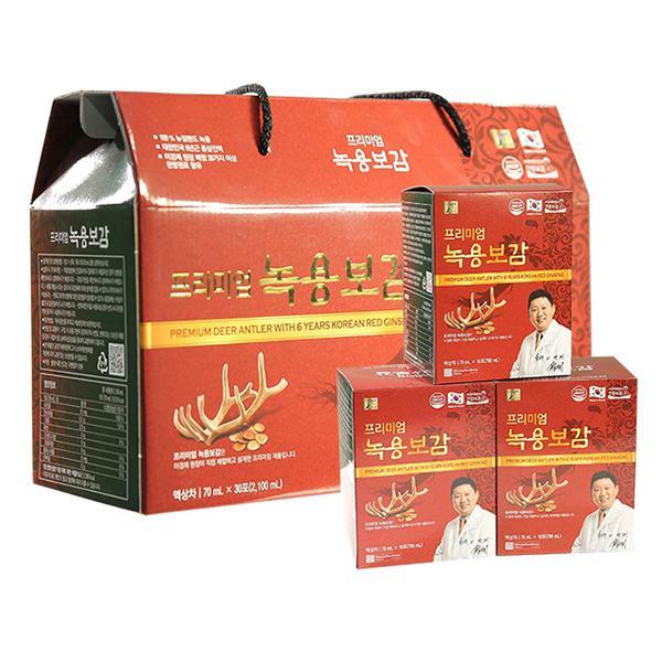 Hộp Quà Nhung Hươu Và Hồng Sâm Hàn Quốc 6 Tuổi Chong Kun Dang 30Gói*70Ml