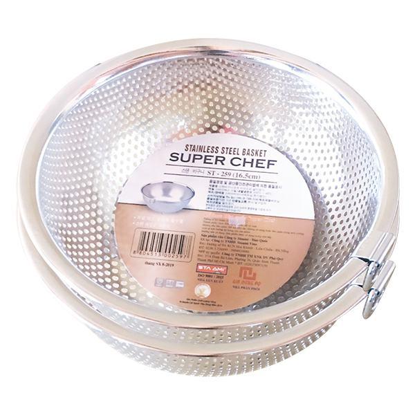 Rổ Inox Hàn Quốc Super Chef 16.5Cm