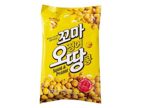 (Hạn sử dụng 10.11.2021) Snack Đậu Phộng No Brand Vị Mực Gói 300G