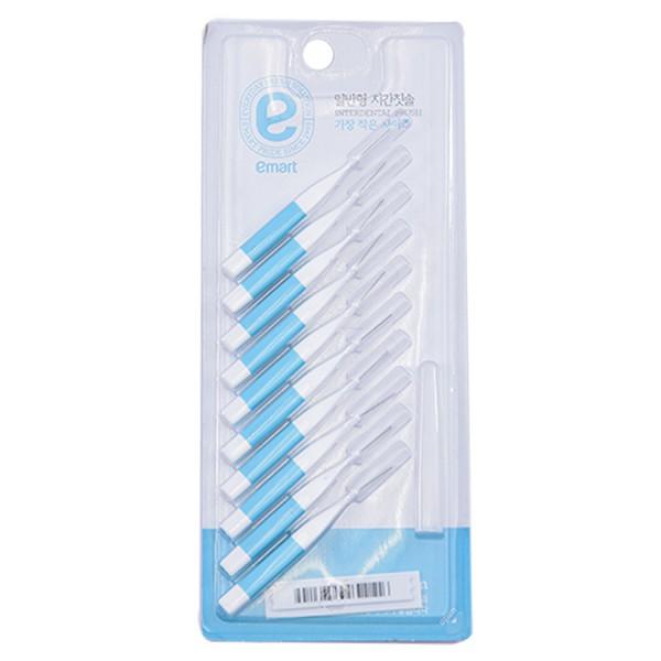 Lô 10 Bàn Chải Kẽ Răng Emart 0.4mm