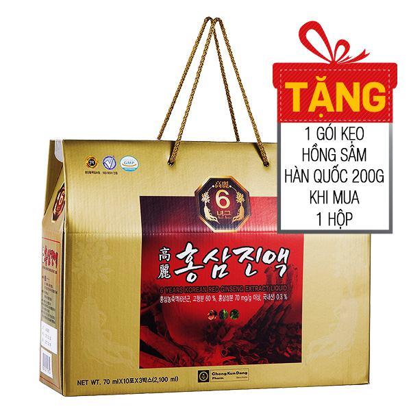 Nước Hồng Sâm Sáu Năm Tuổi Hàn Quốc 70Ml* 30 Gói