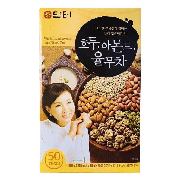 Bột Uống Hạt Óc Chó Hạnh Nhân Ý Dĩ Hàn Quốc Damtuh 50 Gói*18G