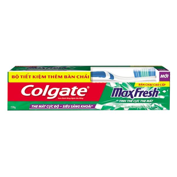 Bộ Đôi Bàn Chải Đánh Răng Và Kem Đánh Răng Colgate Maxfresh Sảng Khoái 250G