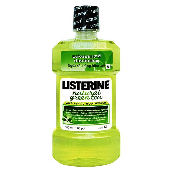 Nước Súc Miệng Listerine Green Tea 500Ml
