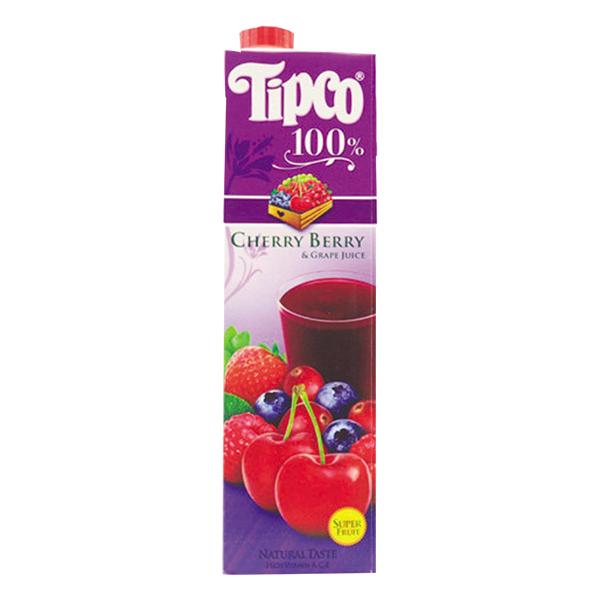 Nước Ép Trái Cây Cherry Và Nho Tipco 1L