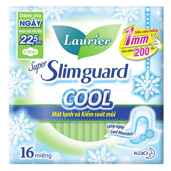 Băng Vệ Sinh Laurier Slimquard Cool 1Mm 16 Miếng