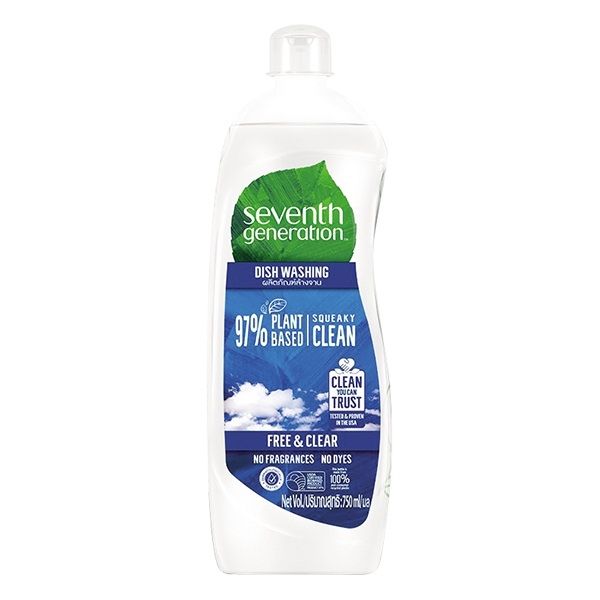 Nước Rửa Chén Seventh Generation Free&Clean Chai 750Ml