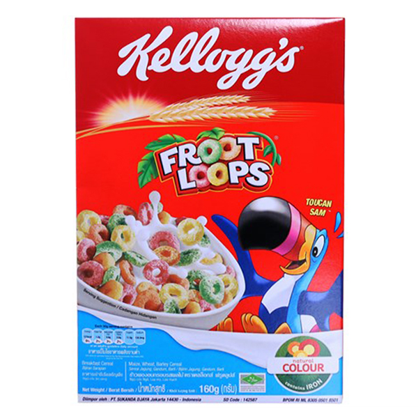 Bánh Ăn Sáng Kellogg's Froot Loops 160G