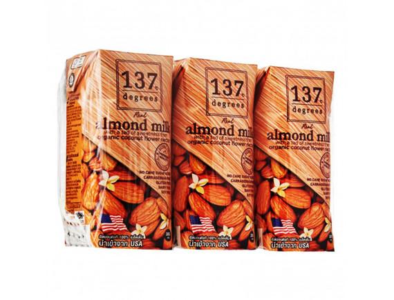 Lốc 3 Sữa Hạnh Nhân 137 Degrees Nguyên Chất 180Ml