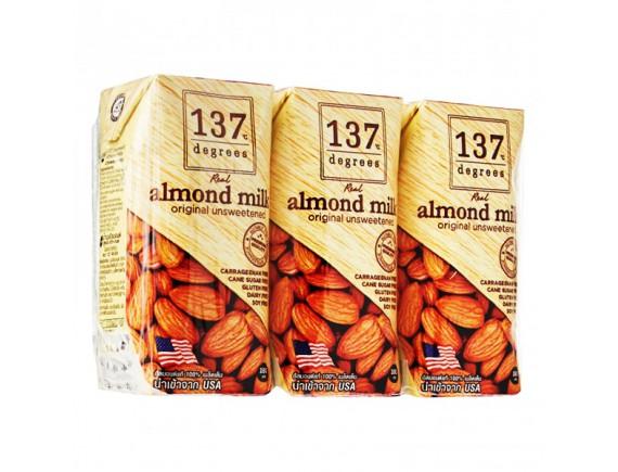 Lốc 3 Sữa Hạnh Nhân 137 Degrees Nguyên Chất Không Đường 180Ml
