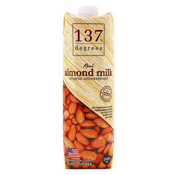 Sữa Hạnh Nhân 137 Dergees Nguyên Chất Không Đường 1L