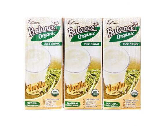 Lốc 3 Sữa Gạo Hữu Cơ Hương Vani Balance Hộp 180Ml