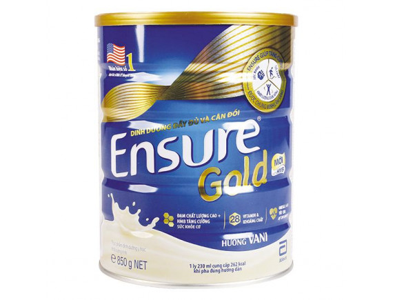Sữa Bột Dinh Dưỡng Ensure Gold Vani 850G