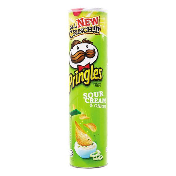 Snack Khoai Tây Pringles Hành Chua Hộp 110G