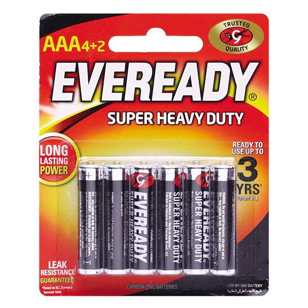 Vỉ 4+2 Pin Eveready SHD AAA 1212
