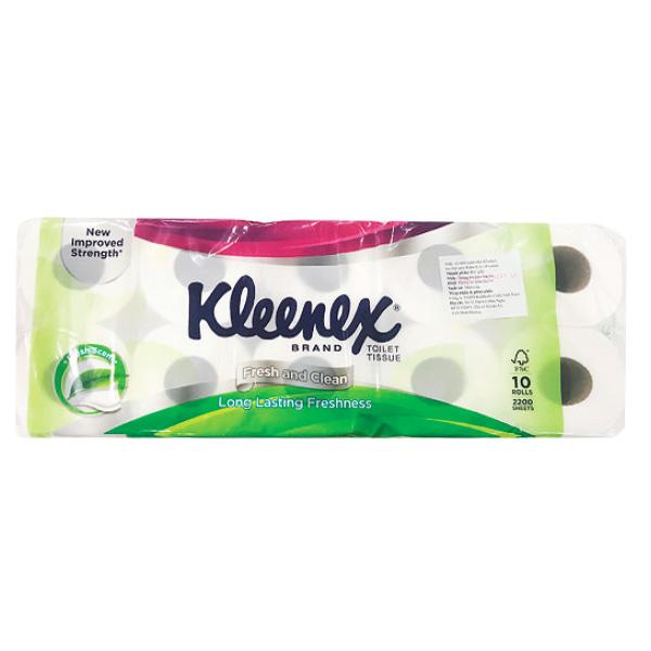 Lốc 10 Giấy Vệ Sinh Kleenex 2 Lớp