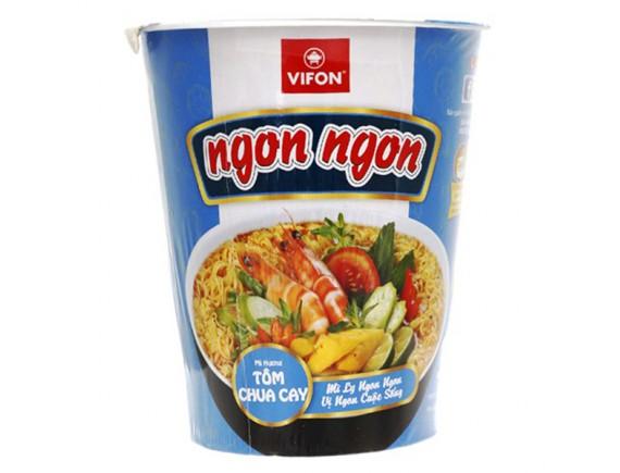Mì Ngon Ngon Tomyum Chua Cay Vifon Ly 60G
