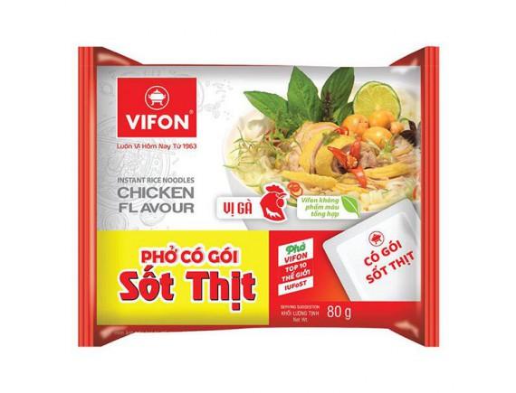 Phở Gà Vifon Có Sốt Thịt Gói 80G