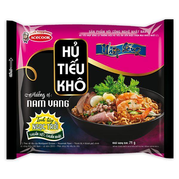Hủ Tiếu Khô Nhịp Sống Vị Nam Vang Gói 71G