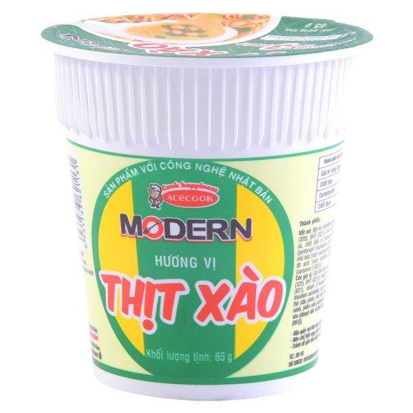Mì Ly Modern Thịt Xào 65G
