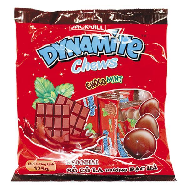 Kẹo Dynamite Chews Choco Mint 125G