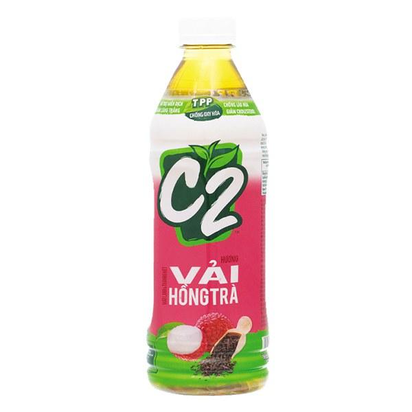 Hồng Trà C2 Hương Vải Chai 455Ml