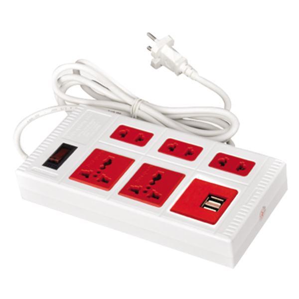 Ổ Cắm Điện Quang 5WR Eco 2A 5 Lỗ + 2 Cổng USB Dây 5M
