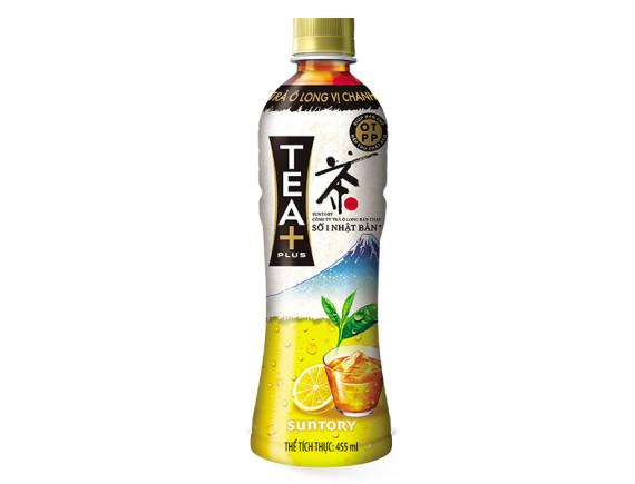 Trà Ô Long Tea Plus Vị Chanh 455Ml