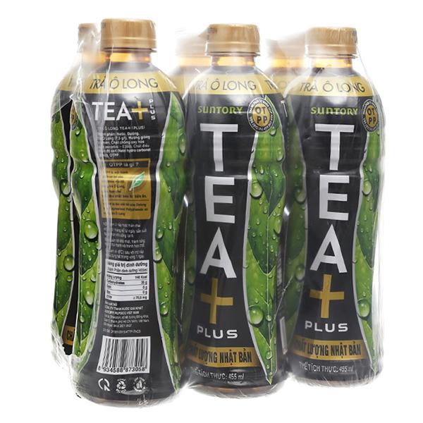 Trà Ô Long Tea Plus Lốc 6 455Ml