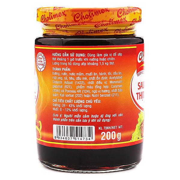 Sốt Ướp Thịt Nướng Hũ Thủy Tinh Cholimex 200G