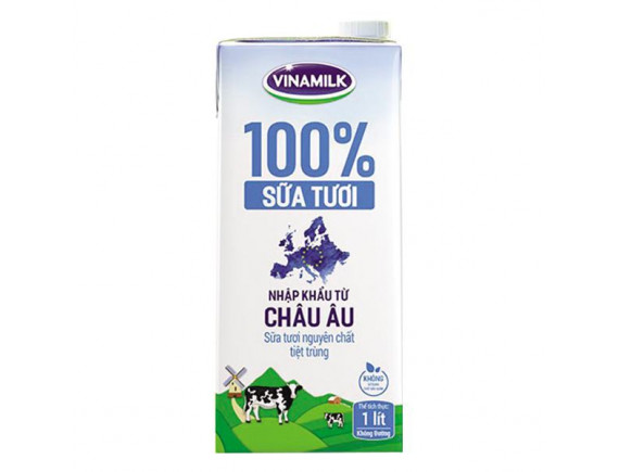 Sữa Tươi Tiệt Trùng Vinamilk Nhập Khẩu Nguyên Chất Hộp 1L