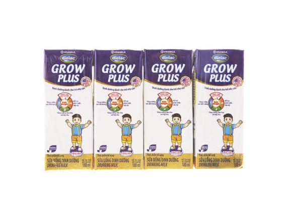 Lốc 4 Sữa Dielac Growplus Xanh 180Ml