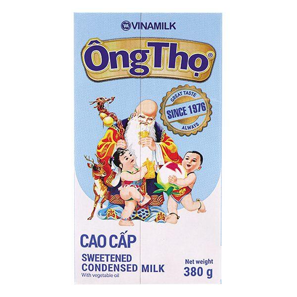 Sữa Đặc Có Đường Ông Thọ Chữ Xanh Hộp Giấy 380G