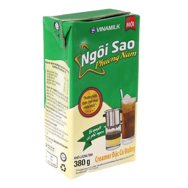 Sữa Đặc Có Đường Ngôi Sao Phương Nam Xanh Lá Hộp Giấy 380G