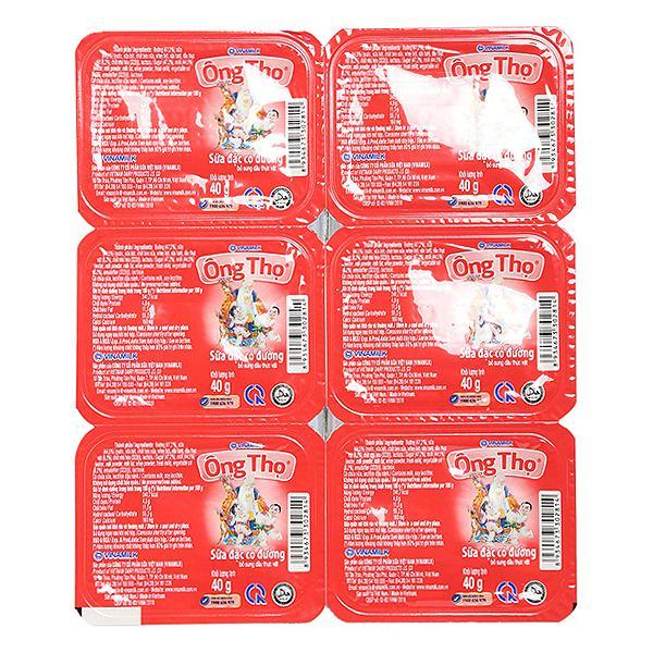 Sữa Đặc Có Đường Ông Thọ Đỏ Vỉ 6 Hộp*40G