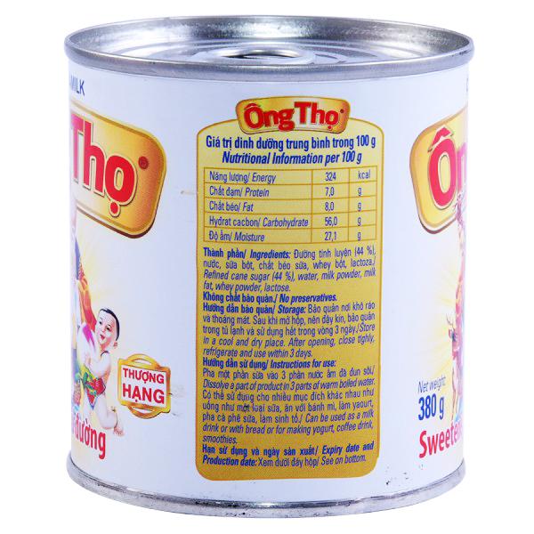 Sữa Đặc Có Đường Ông Thọ Trắng 380G