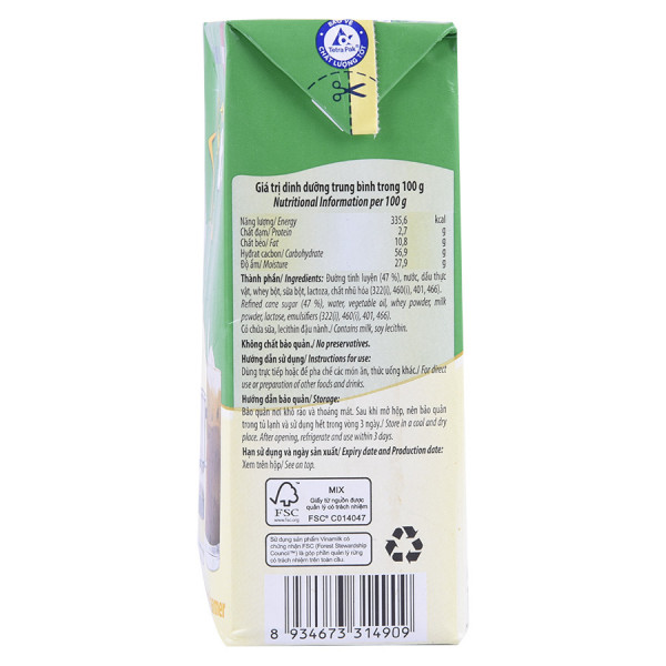 Sữa Đặc Có Đường Ngôi Sao Phương Nam Xanh Lá 1284G