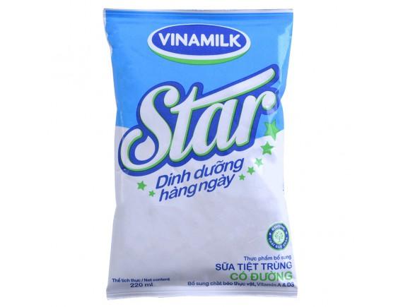 Sữa Tiệt Trùng Star Có Đường Bịch 220ml