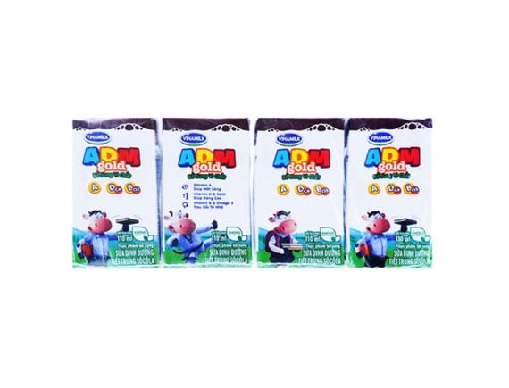 Lốc 4 Sữa Tiệt Trùng Vinamilk ADM Socola 110Ml