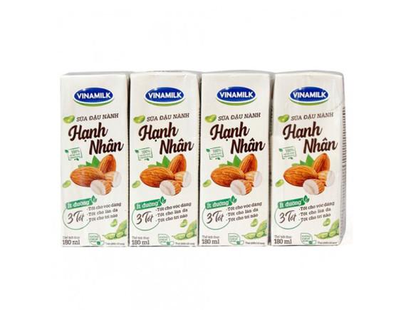 Lốc 4 Sữa Đậu Nành Vinamilk Hạnh Nhân 180Ml