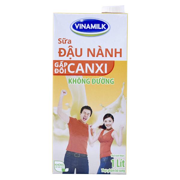 Sữa Đậu Nành Vinamilk Canxi Không Đường Hộp Giấy 1L