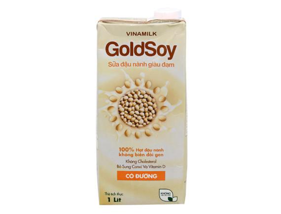 Sữa Đậu Nành Goldsoy Có Đường Hộp Giấy 1L