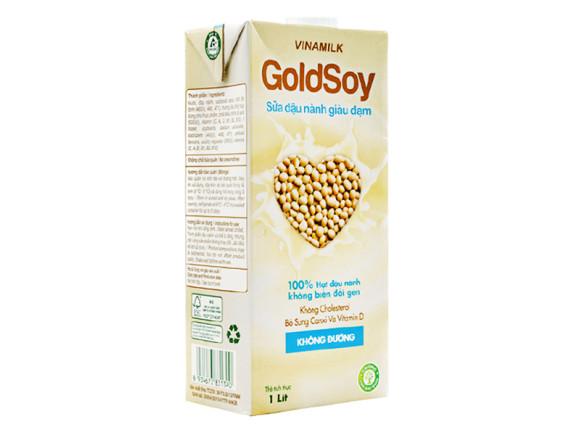 Sữa Đậu Nành Goldsoy Không Đường Hộp Giấy 1L